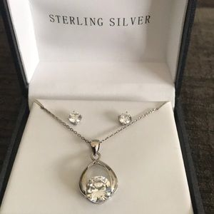 Jewelry - Sterling silver necklace and earring set